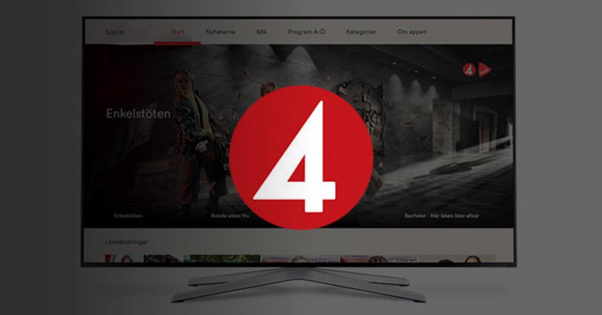 TV4 Sweden chooses Norigin Media for Smart TV Apps