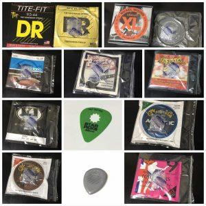 Primetones 210円、Star Picks 78円、TITE-FIT 750円、200L John Pearse 840円、EXL140 530円、EJ73 850円などなど