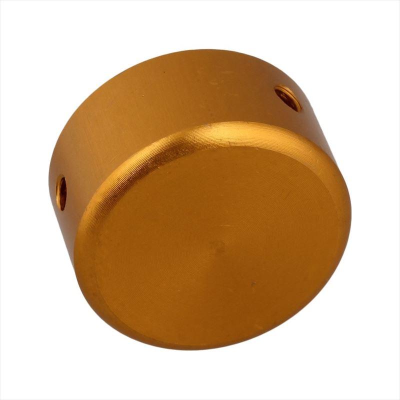Yibuy アルミニウム合金 ギターエフェクターフットキャップ (ゴールデン)