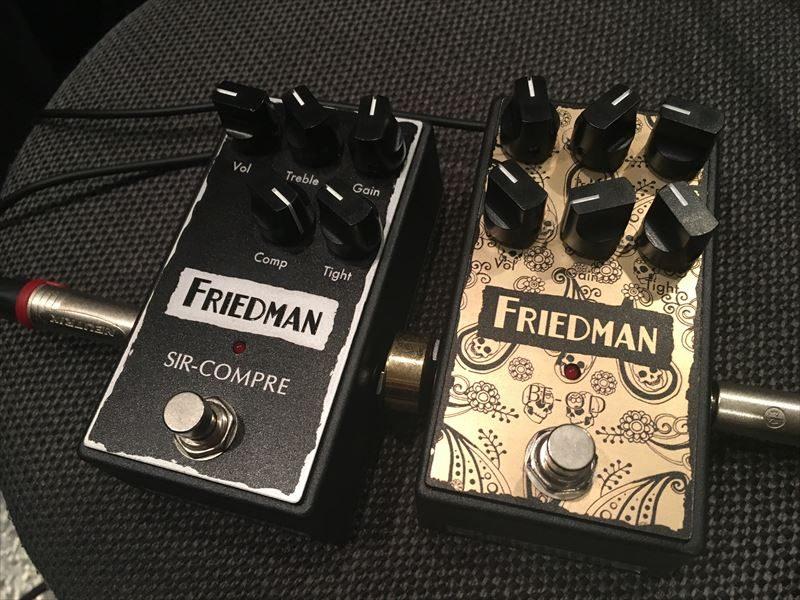 Friedmanがアンプメーカーのお得意のアンプライクな歪みで、エフェクターの歪み系を独占しようとしてきた