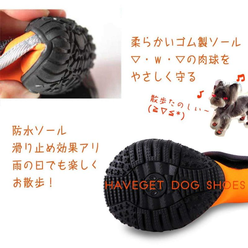HAVEGET ドッグブーツ 犬用靴 ドッグシューズ 犬靴  肉球が剥がれて血が出た時の対処法。犬の足の裏を守り舐めるのや病気を防ぎ散歩もさせて元気で長生き。