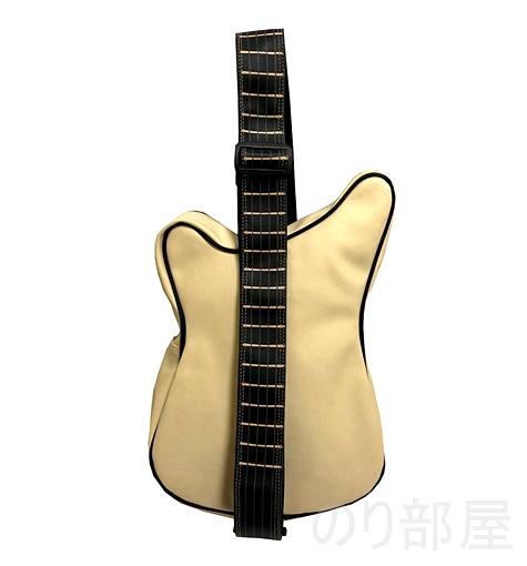 オフホワイトもあるんだぜ! fieldlabo おもしろ エレキギター型 ショルダーバッグ スリングバッグ 【ダサかわいい!】ギター型 ショルダーバッグが良過ぎてヤバイ!ギター好きにオススメのギターバッグです!