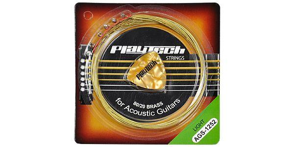 PLAYTECH ( プレイテック ) / AGS-1252 アコースティックギター弦【248円】PLAYTECH AGS アコースティックギター弦 が安い!【111円~】安いアコースティックギター弦特集! 値段を気にせず常に新しい弦で練習できるおすすめ格安・激安アコギ弦!レビュー・感想【コーティング弦】