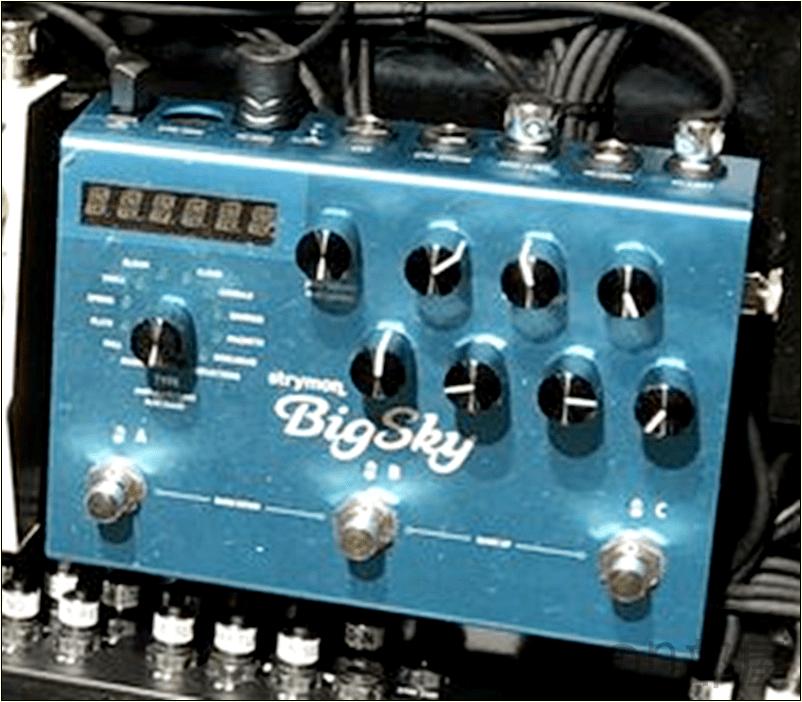 [国内正規品]Strymon:BigSky(ビッグスカイ/リバーブ・マシーン) 綾野剛(The XXXXXX)さんの ツマミ・ノブの位置 【徹底紹介】綾野剛のエフェクターボード・機材を解析!ツマミ・ノブの位置も分かる!ギターを支える機材の数々を紹介!ギター。 #綾野剛 #thexxxxxx #ザシックス【金額一覧】