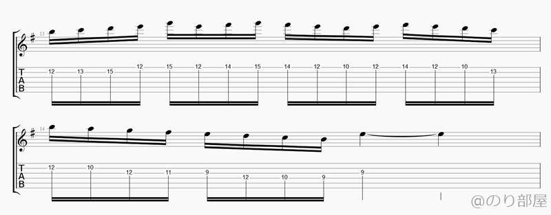最後は指の移動と下降フレーズです【TAB】絶対弾ける Daddy, Brother, Lover, Little Boy - Mr.Big(ポール・ギルバート)  ギターソロの練習で気を付ける方法【Paul Gilbert】