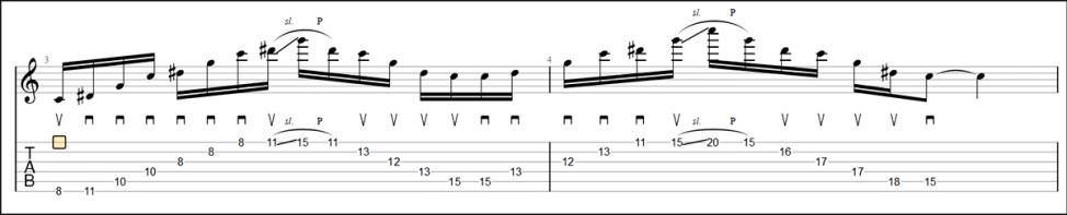 Minor 3 Octaves Sweep Picking / マイナー 3オクターブスウィープ 【TAB】ジョン・ペトルーシのスウィープピッキングの練習TAB ジョン・ペトルーシのスウィープピッキングを練習して上手くなる!【ギター】