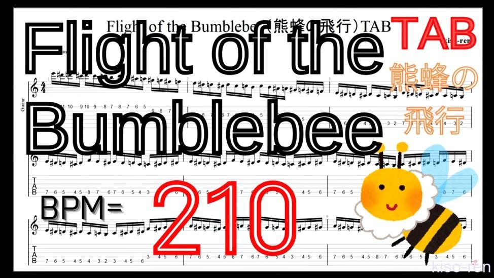 【BPM210】熊蜂の飛行 ギター TAB 楽譜(動画に合わせて弾くだけ)Flight of the Bumblebee Guitar TAB【TAB ギターソロ速弾き】【TAB・動画】絶対弾ける「熊蜂の飛行」の練習方法。ギターで難しい曲のピッキングの練習をして上手くなる!【くまばちのひこう・Flight of the Bumblebee】