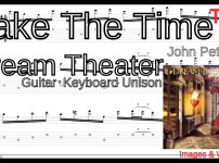【TAB】Take the Time / Dream Theaterをギターで絶対弾ける練習方法。激ムズユニゾンでピッキングとスキッピングを練習!!【動画】