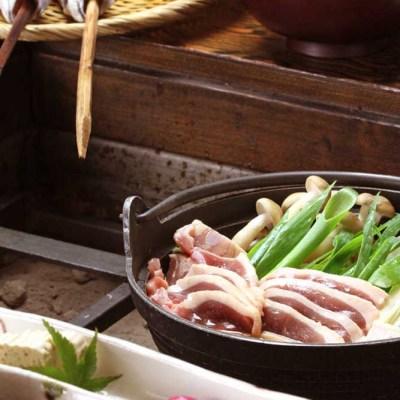 双色の源泉山水館信濃 料理の一例