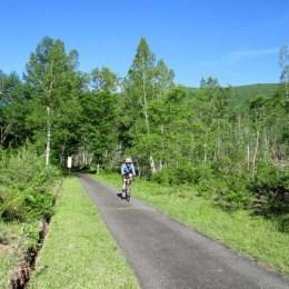 一の瀬でサイクリング