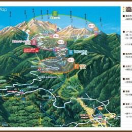 女将おすすめ 登山ガイド コース地図