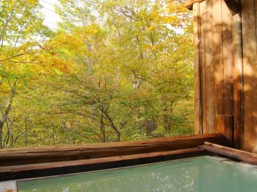 ピーポロ乗鞍 秋の露天風呂