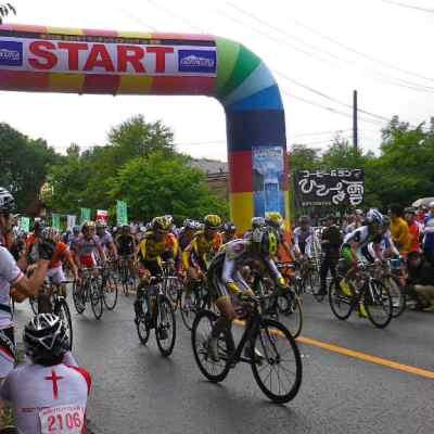 サイクリング大会 スタート
