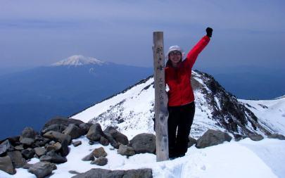 春山 剣ヶ峰に登頂