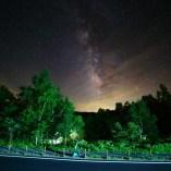 湯けむり館駐車場近辺の星空