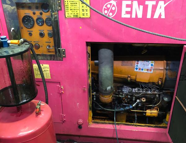 エンジン式油圧ユニットオイル交換