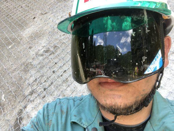 シールド付きヘルメット