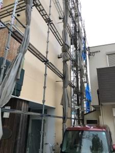 足場 壁の塗り替え 台風20号 台風養生 神戸 須磨 海苔専門 こだわりすし屋