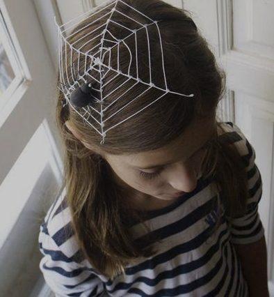 ハロウィン 子供 大人 仮装 簡単 安い 100均 くもの巣 手作り 女の子 男の子