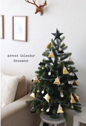 クリスマスツリー手作りおしゃれオーナメント100均テトラ
