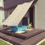 日よけシェード熱中症予防と節電に効果大な使い方!100均遮光シートの種類