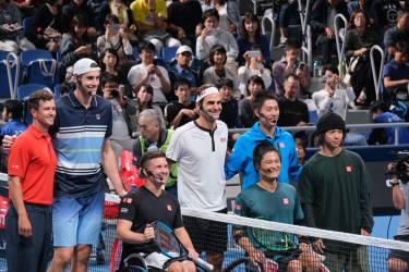テニス界の皇帝ロジャー・フェデラー 有明の地に再び(UNIQLO LifeWear Day Tokyo)