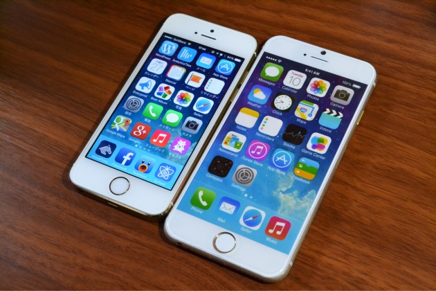 iPhone5sとiPhone6比較2