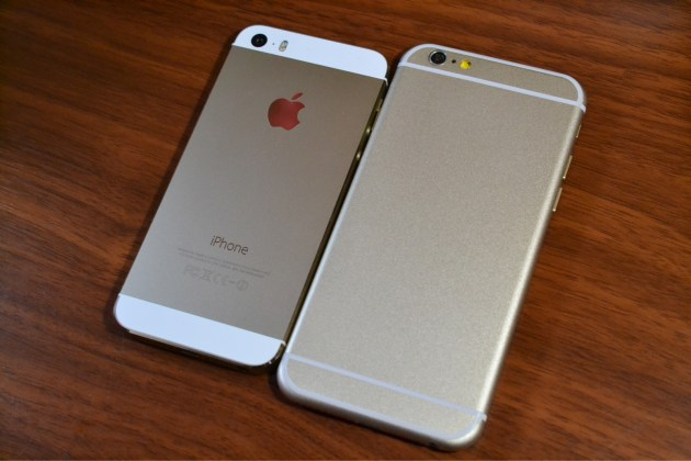 iPhone5sとiPhone6比較1