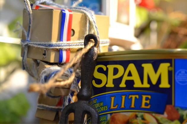 spamを持ってきた青紐