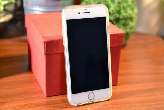 TPUソフトケース iPhone6用装着1