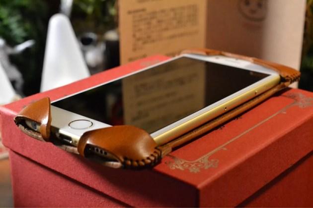 iPhone6ゴールドにabicase装着2