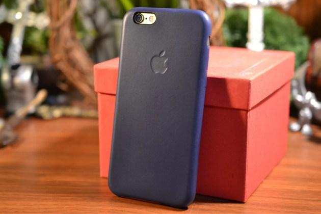 Apple純正iPhone6レザーケース装着