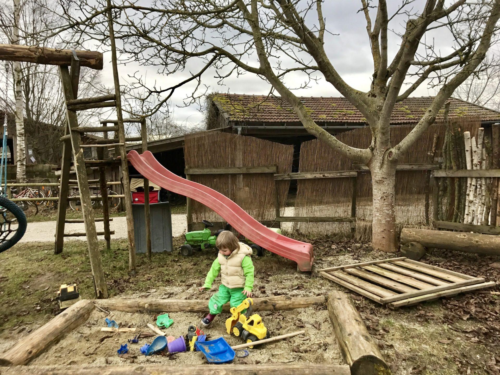 Spielecke im Waldkindergarten