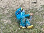 Marschpause im Waldkindergarten