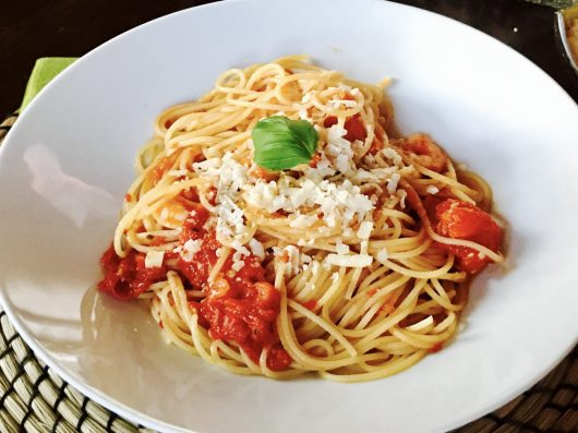 Montis Pasta auf dem Teller