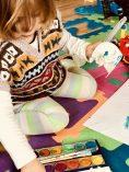 Merlin malt gern mit Wasserfarben
