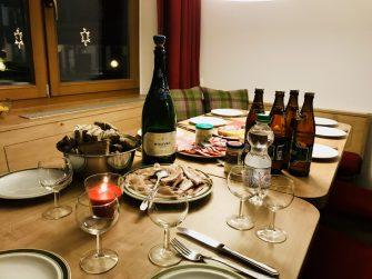 Das erste gemeinsame Abendessen in Elbmau – leckaaaa