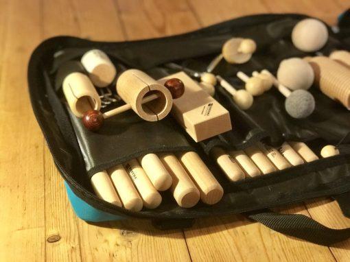 Tasche mit Orff-Instrumenten
