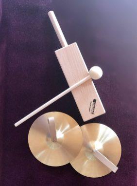 Cymbeln und Klangblock