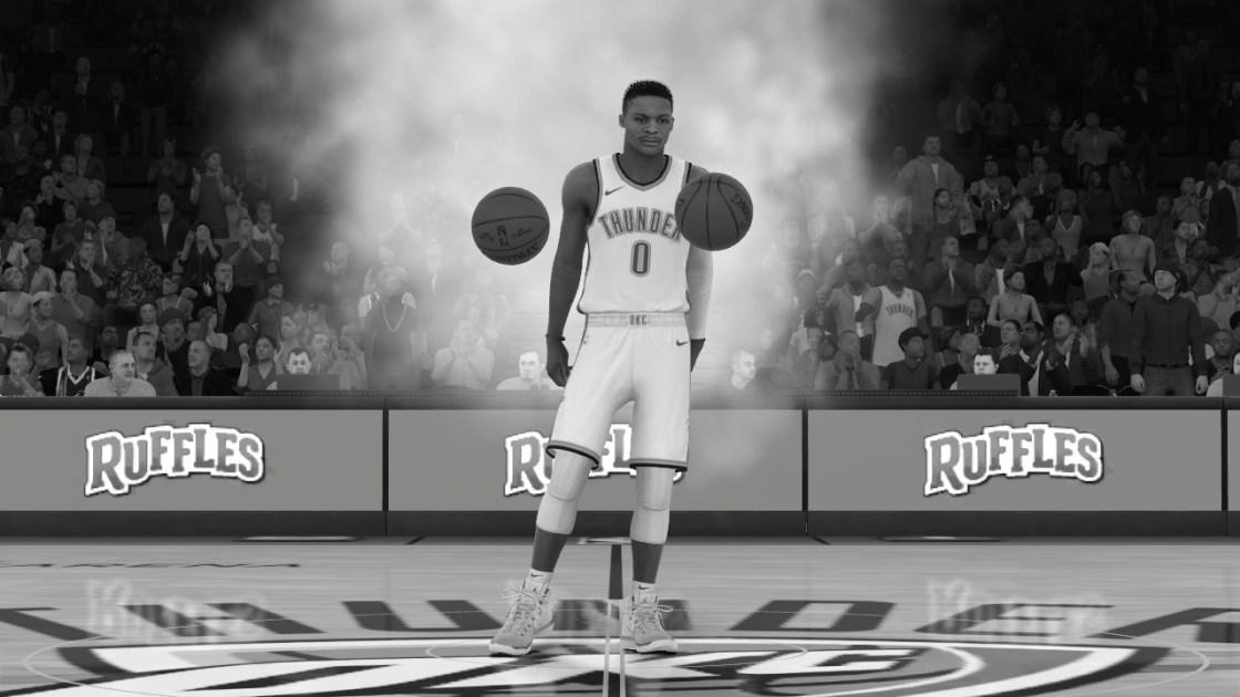 NBA2k18試合イントロのwestbrook