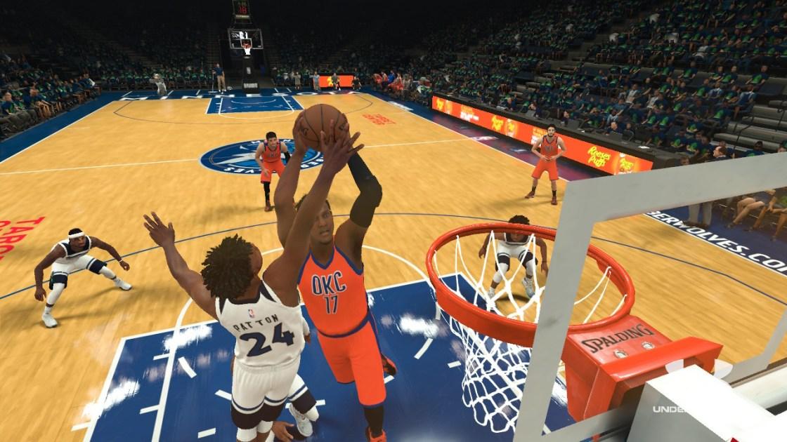 NBA2k18ダンクをする選手の画像
