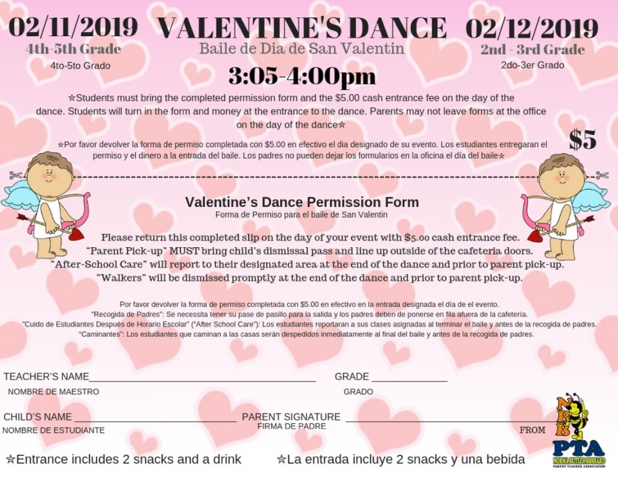 Valentine's Dance Permission Form