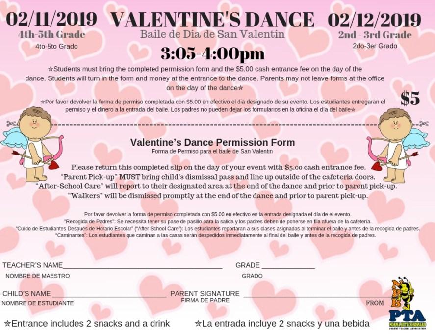 Valentine's Dance Permission Form