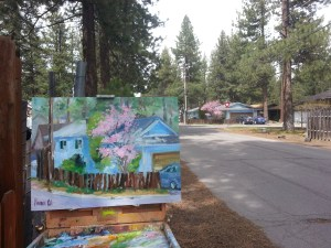 Joy's house plein air