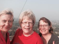 Norma and cousins on a high Badlands butte climb prior to her book signing at Western Edge Books in Medora, ND, on August 30, 2015.