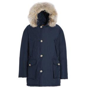 Donker blauwe woolrich jas