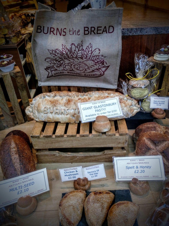 A Burns the Bread Glastonbury Pasty