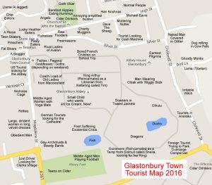 Glastonbury Tourist Map