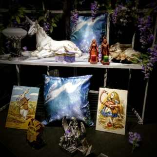 Unicorn and other New Age Tat in Glastonbury Shop Window