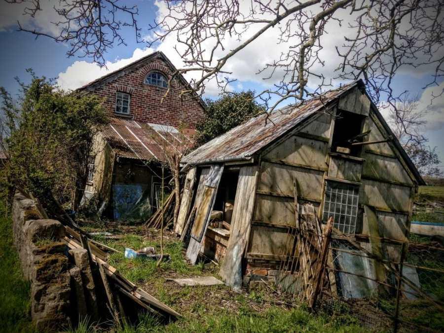 Wonderful Tumbledown Barn in Godney